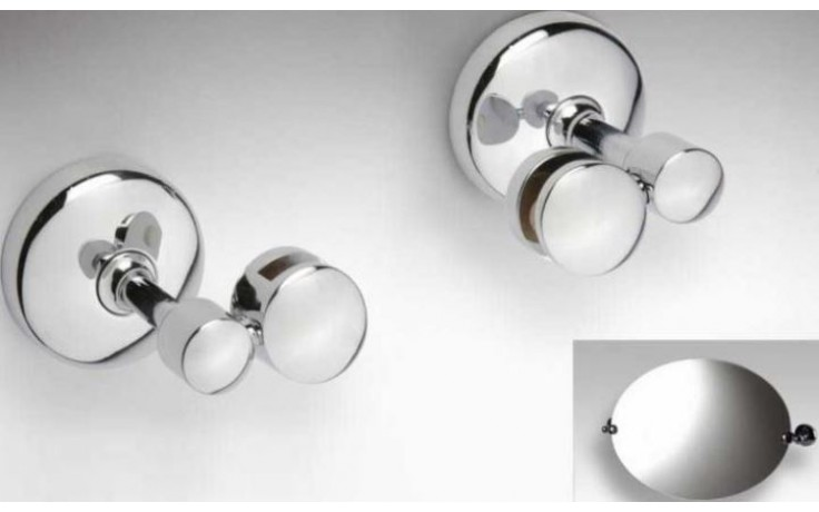 GOZ METAL držák zrcadla 57x75x60mm, pár, mosaz, chrom