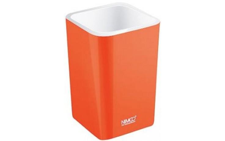 Doplněk ostatní Nimco Eli pohárek na kartáčky 7,5x11,2 cm oranžová