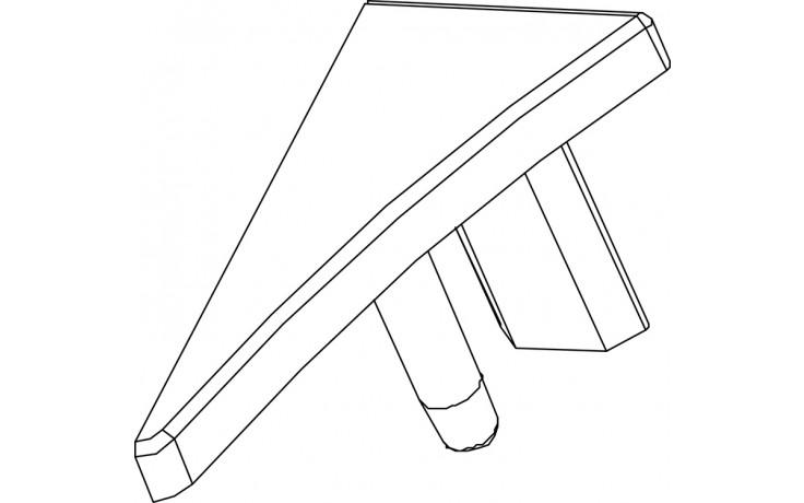 Vana příslušenství Ravak - koncovka k vanové liště 10  white