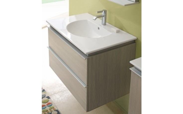 DURAVIT DARLING NEW skříňka pod umyvadlo 500x430mm závěsná, pine silver/bílá matná DN645403118
