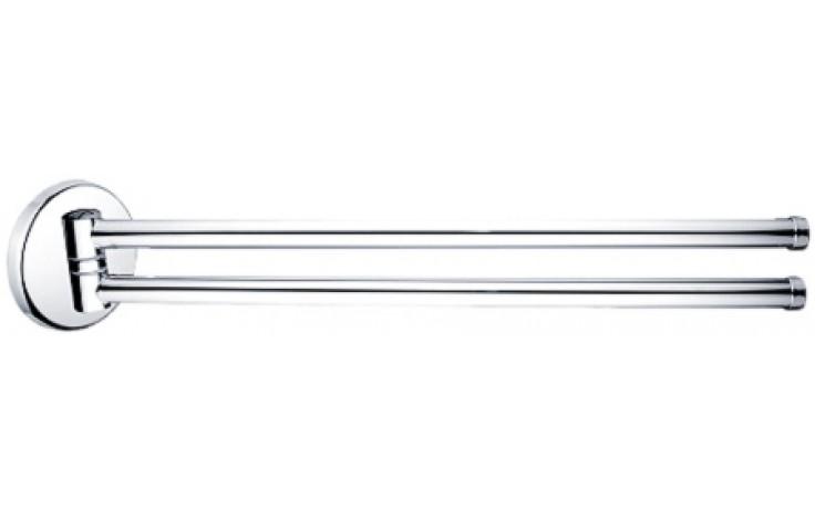 NIMCO KALYPSO držák na ručníky dvojitý otočný 490x36mm chrom KA 7496-26