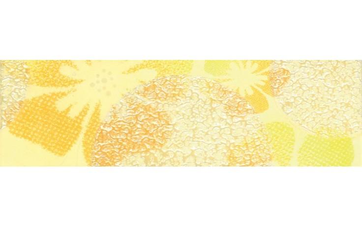 Listela Rako Candy 20x6 cm žlutá s květy