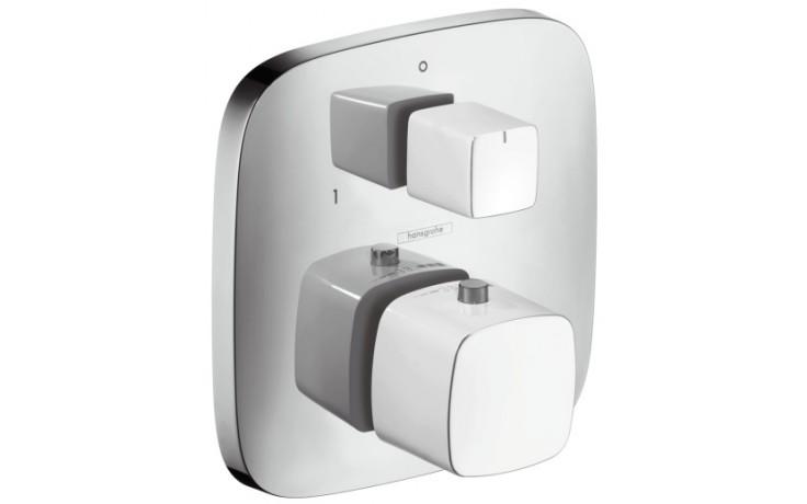 Baterie termostatická Hansgrohe - PuraVida pod omítku,vrchní sada,s uzav.a přep.vent.  bílá-chrom