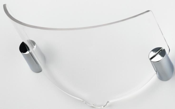 ORAS HYDRA mýdelník 200x150mm, transparent/chrom
