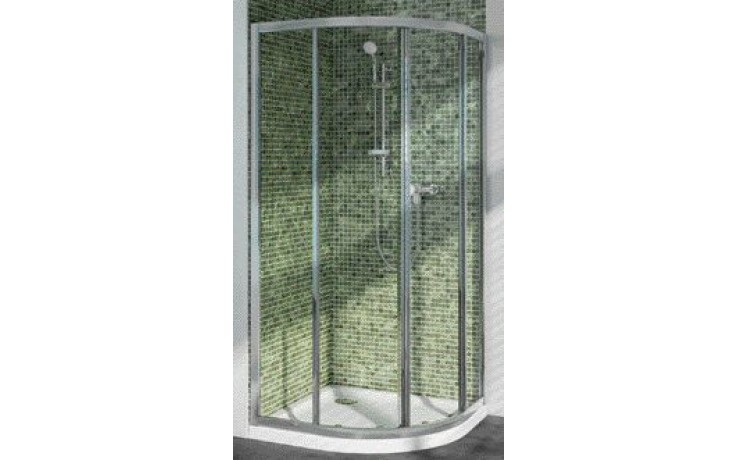 IDEAL STANDARD CONNECT sprchový kout 90x90cm čtvrtkruh, silver bright/sklo T9818EO