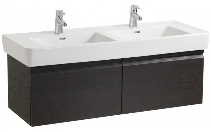 LAUFEN PRO skříňka pod umyvadlo 1220x450mm se 2 zásuvkami, se sifonem, bílá