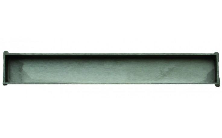 Příslušenství ke žlabům Unidrain - HighLine kazeta k podélnému žlabu 25mm v.25/délka 800mm nerez