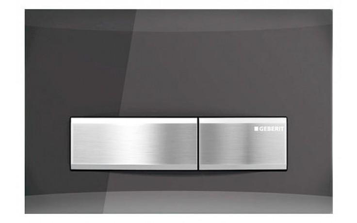 GEBERIT SIGMA 50 ovládací tlačítko 24,6x1,4x16,4cm, kouřové sklo zrcadlové