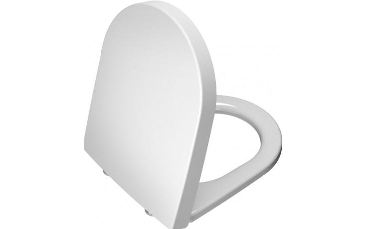 Sedátko WC Vitra duraplastové s kov. panty Nest  bílá