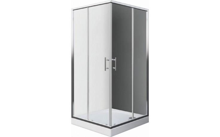 EASY ELS2 900 LH sprchový kout 900x1900mm čtvercový, s dvoudílnými posuvnými dveřmi, brillant/transparent