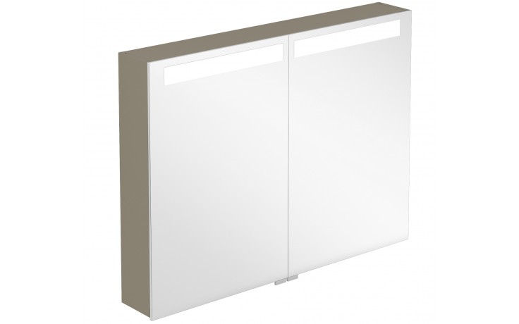 VILLEROY & BOCH VERITY DESIGN zrcadlová skříňka 800x149x746,5mm s osvětlením, tmavý jilm B304F8FE