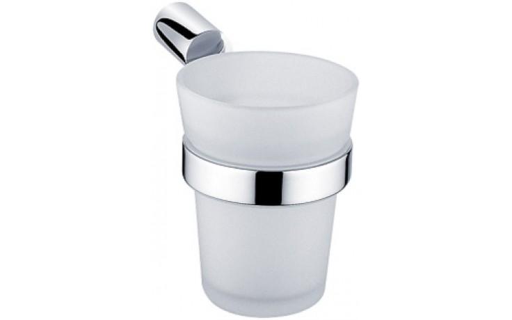 Doplněk držák se skleničkou Nimco Bormo  chrom/sklo matné