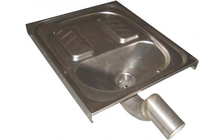 SANELA SLWN07 WC 600x700x160mm, nášlapné, k zapuštění do podlahy, antivandal, nerez