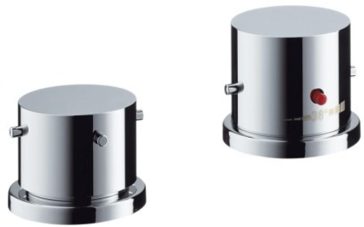 AXOR STARCK vrchní sada pro dvouotvorový termostat pro montáž na okraj vany chrom 10480000