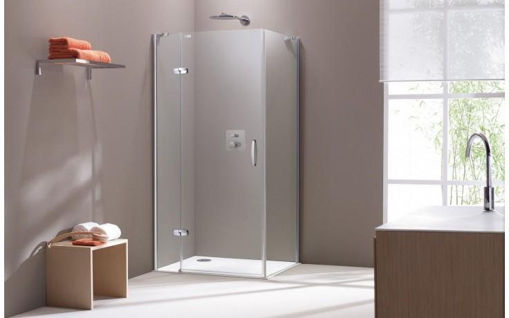 CONCEPT 300 sprchové dveře 900x1900mm křídlové, s pevným segmentem, levé, stříbrná/čiré sklo PT432302.092.322
