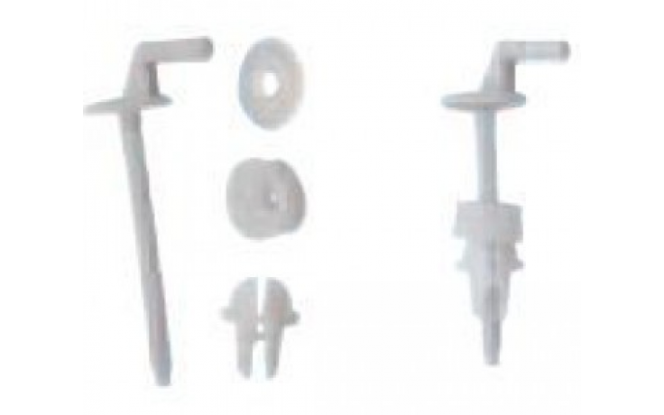 Příslušenství k sedátkům Jika - plastové úchyty k sedátku Lyra  bílá