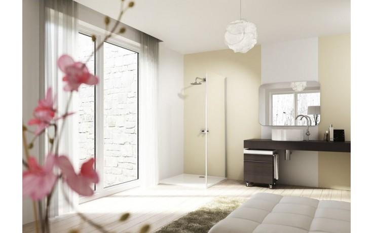 HUPPE DESIGN ELEGANCE SW 900 boční stěna 900x2000mm pro křídlové dveře, stříbrná lesklá/sklo čiré AntiPlaque