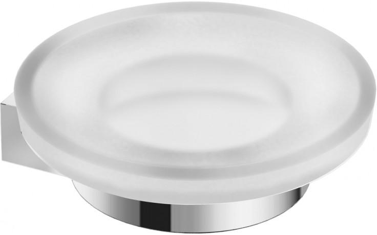 JIKA PURE držák s mýdlenkou 112x30mm chrom/matné sklo