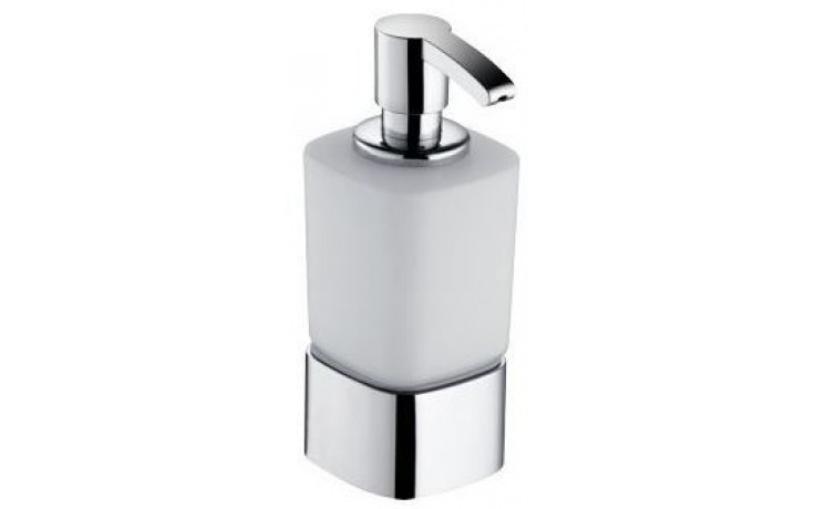 KEUCO ELEGANCE dávkovač na pěnové mýdlo 220ml, s držákem, chrom/matné sklo
