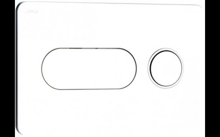 JIKA PL8 tlačítko Dual Flush, 250x160mm, lesklý chrom, matný proužek 8.9364.6.004.000.1