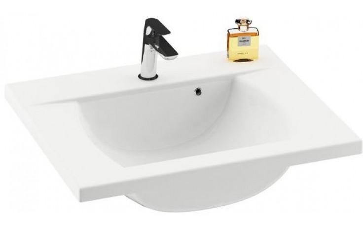 RAVAK CLASSIC 700 umyvadlo 700x490x207mm, s otvorem a přepadem, bílá/litý mramor
