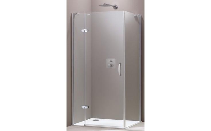 HÜPPE AURA ELEGANCE SW 1000 boční stěna 1000x1900mm, 4-úhelník, stříbrná matná/Privatima Anti-Plaque