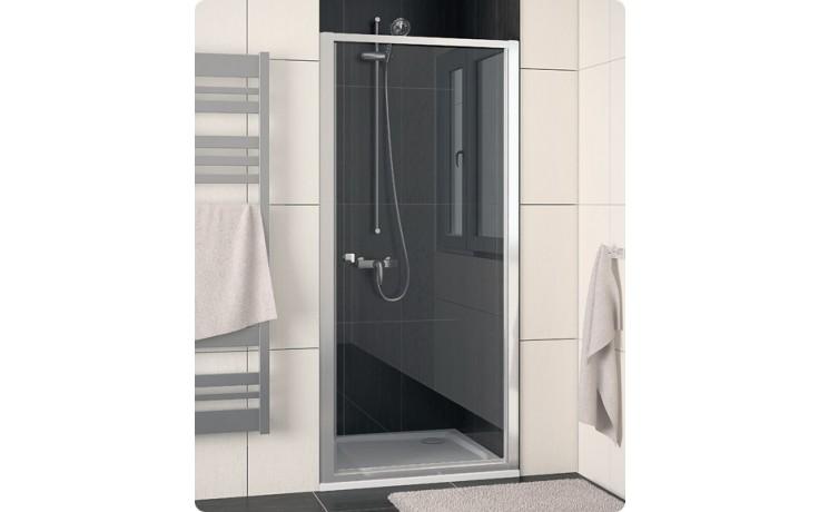 Zástěna sprchová dveře Ronal sklo ECO-line 700x1900 mm aluchrom/durlux AQ