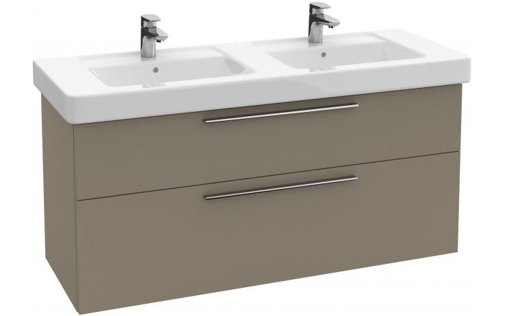 VILLEROY & BOCH VERITY DESIGN skříňka pod dvojumyvadlo 1250x450x575mm, antracit lesk B02300FP