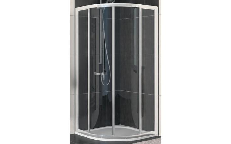 SANSWISS ECO LINE ECOR sprchové dveře 900x1900mm čtvrtkruhové, dvoudílné posuvné, aluchrom/sklo Durlux