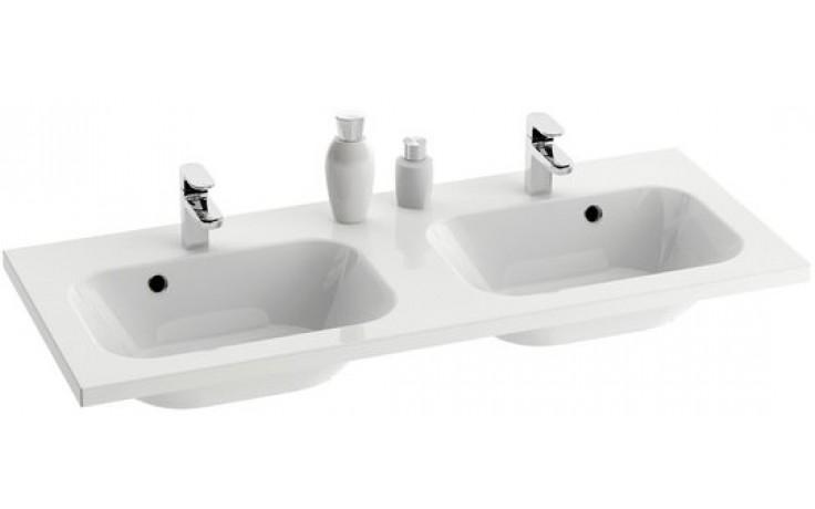 Umyvadlo nábytkové Ravak s otvorem Chrome 1200 XJG01212000 dvojumyvadlo bez přepadu 120x49 cm bílá