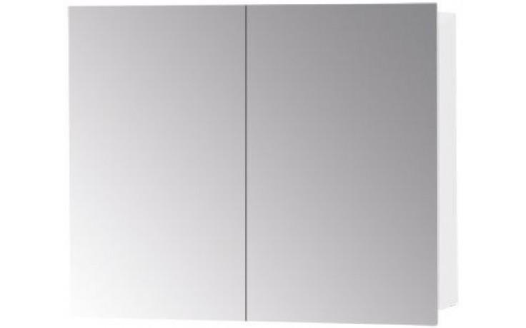 DŘEVOJAS Q GA 70 2D S zrcadlová skříňka 70x14x68cm, bílá lesk