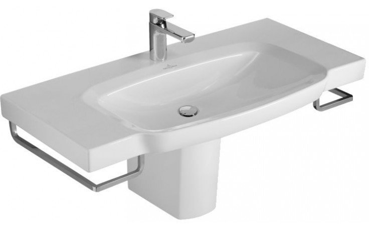 VILLEROY & BOCH SENTIQUE umyvadlo 1000x520mm na skříňku, s přepadem Bílá Alpin CeramicPlus 514280R1