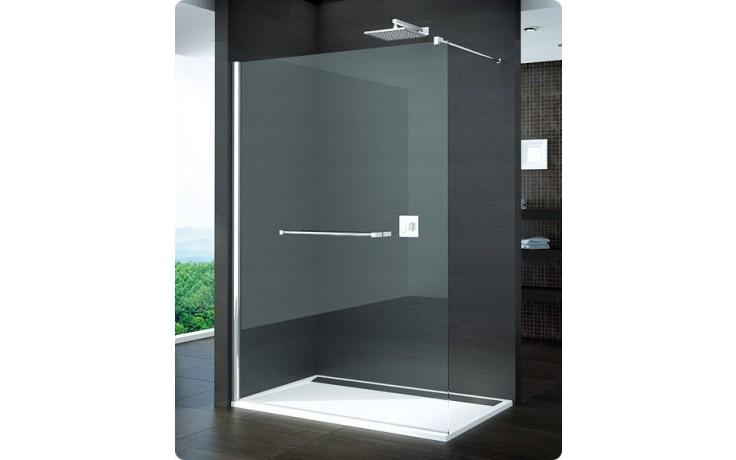 SANSWISS PUR PDT4P boční stěna 1000x2000mm samostatná, s vyrovnávacím profilem, chrom/čiré sklo Aquaperle