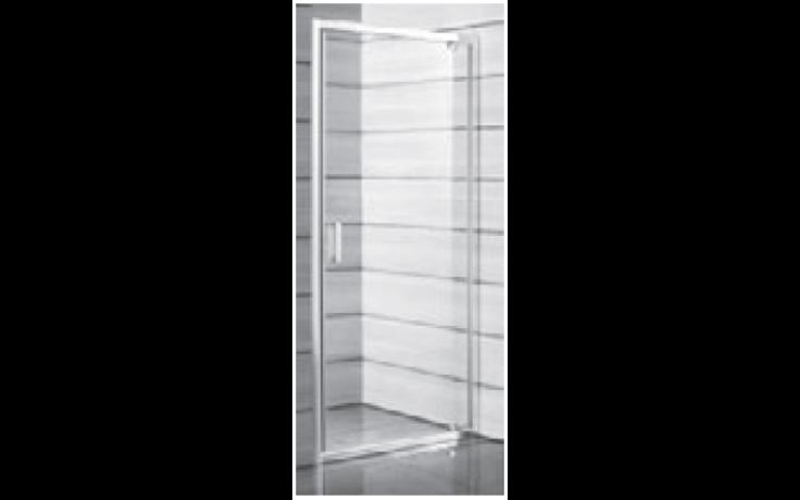 JIKA LYRA PLUS sprchové dveře 800x1900mm, pravolevé, jednokřídlé, stripy