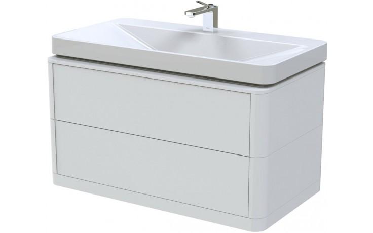 TOTO SG skříňka pod umyvadlo 890x500mm 2 zásuvky, teak furnier, FU10742L-VT