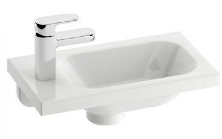 RAVAK CHROME umývátko nábytkové 400x220x120mm, levé s otvorem, bílá