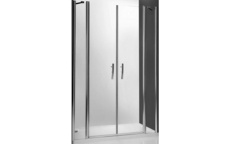 ROLTECHNIK TOWER LINE TDN2/1300 sprchové dveře 1300x2000mm dvoukřídlé pro instalaci do niky, bezrámové, stříbro/transparent