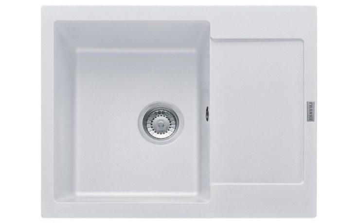 FRANKE MARIS MRG 611-62 dřez 620x500mm s odkapávačem, Fragranit DuraKleen Plus/bílá led