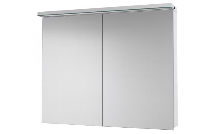 Nábytek zrcadlová skříňka Dřevojas Aston GA 90 s LED osvětlením 900x773x185 mm bílá