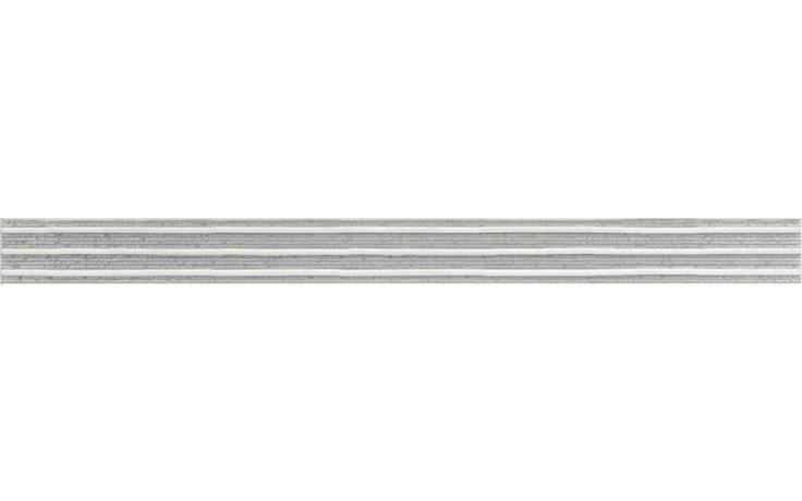RAKO SENSO listela 60x4,5cm šedá WLASZ028