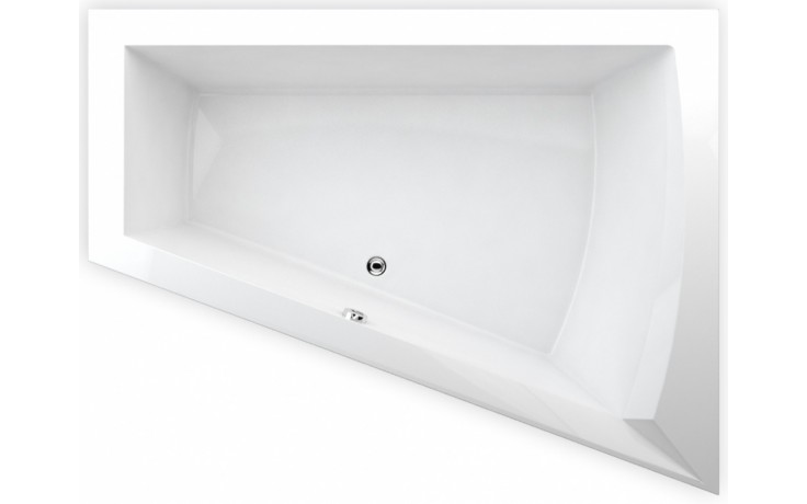 TEIKO GALIA P vana 175x135x50cm, rohová, akrylát, bílá
