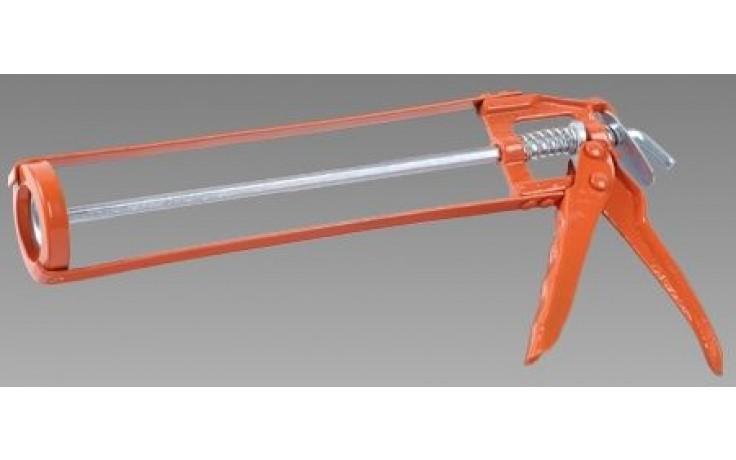 DEN BRAVEN aplikační pistole, šestihranný profil, litina, oranžová