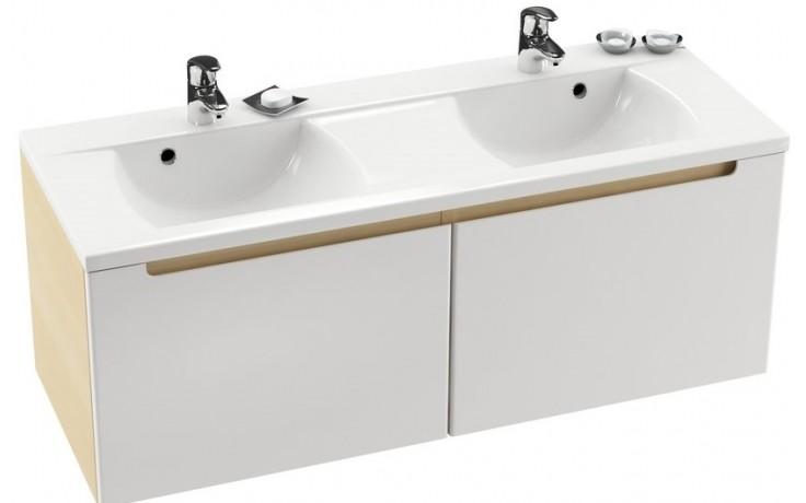 Nábytek skříňka pod umyvadlo Ravak SD Classic 1300 pod dvojumyvadlo 1300x47x49cm bílá/bílá