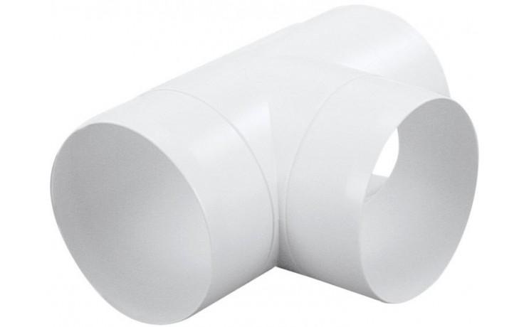 HACO CTO 3x100 ventilační systém 3x100mm, tvarovka T kulatá, bílá