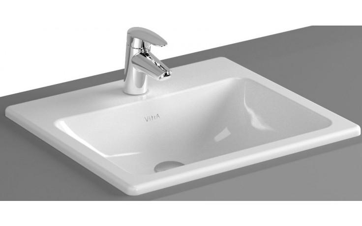 VITRA S20 umyvadlo zápustné 500x450mm s otvorem a přepadem bílá 5464B003-0001