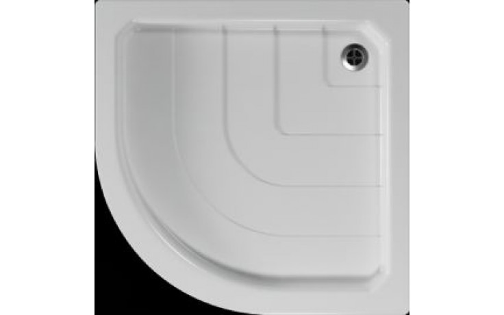 Vanička plastová Teiko čtvrtkruh - 90x90x6cm bílá