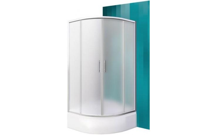 ROLTECHNIK PORTLAND NEO/900 sprchový kout 900x1650mm R550 čtvrtkruh, s posuvnými dveřmi, brillant/matt glass