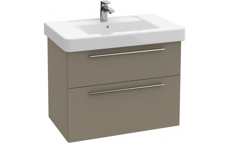 Nábytek skříňka pod umyvadlo Villeroy & Boch Verity Design 750x575x450mm jilm tmavý