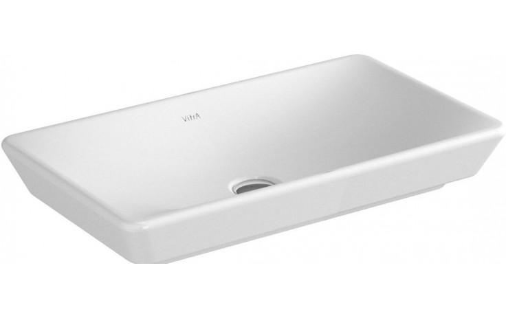 Umyvadlo nábytkové Vitra bez otvoru T4 bez přepadu 800x350mm bílé