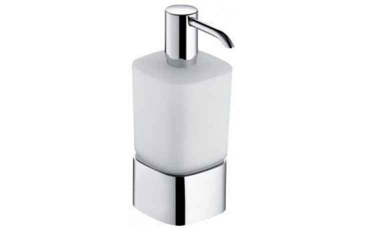 KEUCO ELEGANCE dávkovač na mýdlo 220ml, s držákem, chrom/sklo